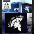 Molon Labe Helmet Decal Sticker D6 White Emblem 120x120
