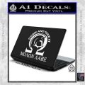 Molon Labe Omega Decal Sticker R2 White Vinyl Laptop 120x120