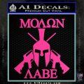 Molon Labe Spartan Cross Rifles Decal Sticker Hot Pink Vinyl 120x120