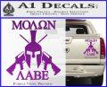 Molon Labe Spartan Cross Rifles Decal Sticker Purple Vinyl 120x97