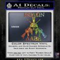 Molon Labe Spartan Cross Rifles Decal Sticker Sparkle Glitter Vinyl 120x120