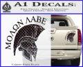 Molon Labe Spartan Decal Sticker INT Carbon Fiber Black 120x97