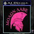Molon Labe Spartan Decal Sticker INT Hot Pink Vinyl 120x120