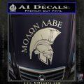 Molon Labe Spartan Decal Sticker INT Silver Vinyl 120x120
