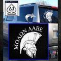 Molon Labe Spartan Decal Sticker INT White Emblem 120x120