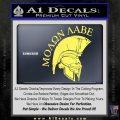 Molon Labe Spartan Decal Sticker INT Yelllow Vinyl 120x120