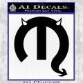 Mopar Devil Logo Vinyl Decal Sticker Black Logo Emblem 120x120