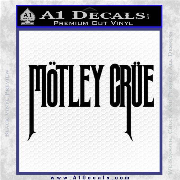 Motley Crue Band Vinyl Decal Sticker Black Logo Emblem
