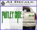 Motley Crue Band Vinyl Decal Sticker Green Vinyl 120x97