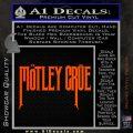 Motley Crue Band Vinyl Decal Sticker Orange Vinyl Emblem 120x120