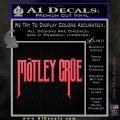 Motley Crue Band Vinyl Decal Sticker Pink Vinyl Emblem 120x120