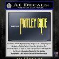 Motley Crue Band Vinyl Decal Sticker Yelllow Vinyl 120x120