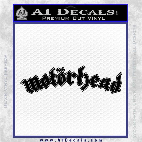 MotorHead Decal Sticker Wide Black Logo Emblem