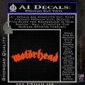 MotorHead Decal Sticker Wide Orange Vinyl Emblem 120x120