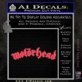 MotorHead Decal Sticker Wide Pink Vinyl Emblem 120x120