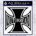 MotorHead Iron Cross Decal Sticker Black Logo Emblem 120x120