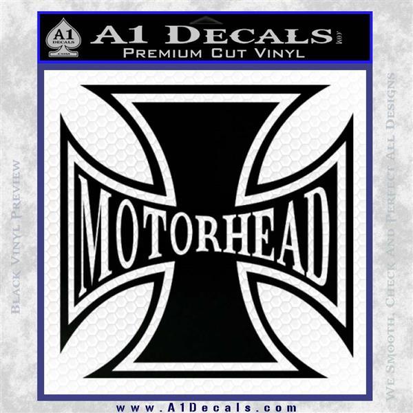 MotorHead Iron Cross Decal Sticker Black Logo Emblem