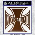 MotorHead Iron Cross Decal Sticker Brown Vinyl 120x120