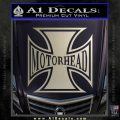 MotorHead Iron Cross Decal Sticker Silver Vinyl 120x120