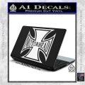 MotorHead Iron Cross Decal Sticker White Vinyl Laptop 120x120