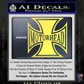 MotorHead Iron Cross Decal Sticker Yelllow Vinyl 120x120