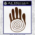 NATIVE AMERICAN SACRED HAND SYMBOL VINYL DECAL STICKER Brown Vinyl 120x120