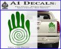 NATIVE AMERICAN SACRED HAND SYMBOL VINYL DECAL STICKER Green Vinyl 120x97