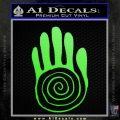 NATIVE AMERICAN SACRED HAND SYMBOL VINYL DECAL STICKER Lime Green Vinyl 120x120