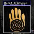 NATIVE AMERICAN SACRED HAND SYMBOL VINYL DECAL STICKER Metallic Gold Vinyl 120x120