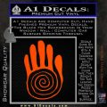 NATIVE AMERICAN SACRED HAND SYMBOL VINYL DECAL STICKER Orange Vinyl Emblem 120x120