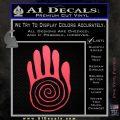 NATIVE AMERICAN SACRED HAND SYMBOL VINYL DECAL STICKER Pink Vinyl Emblem 120x120