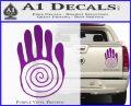 NATIVE AMERICAN SACRED HAND SYMBOL VINYL DECAL STICKER Purple Vinyl 120x97
