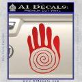 NATIVE AMERICAN SACRED HAND SYMBOL VINYL DECAL STICKER Red Vinyl 120x120