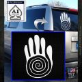 NATIVE AMERICAN SACRED HAND SYMBOL VINYL DECAL STICKER White Emblem 120x120