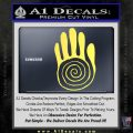 NATIVE AMERICAN SACRED HAND SYMBOL VINYL DECAL STICKER Yelllow Vinyl 120x120