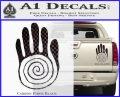 NATIVE AMERICAN SACRED HAND SYMBOL VINYL Decal Sticker Carbon Fiber Black 120x97