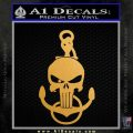 Navy Anchor Skull Decal Sticker Metallic Gold Vinyl Vinyl 120x120