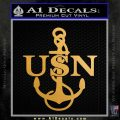 Navy Anchor USN Chief Decal Sticker Metallic Gold Vinyl Vinyl 120x120