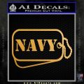 Navy Dog Tags Decal Sticker Metallic Gold Vinyl Vinyl 120x120