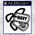 Navy USN Dog Tags Decal Anchor United States Navy Decal Sticker Black Logo Emblem 120x120