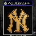 New York Yankees Logo Decal Sticker Metallic Gold Vinyl Vinyl 120x120