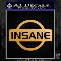 Nissan Insane JDM Vinyl Decal Sticker Metallic Gold Vinyl Vinyl 120x120