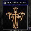 Not of This World Cross NOTW Decal Sticker Metallic Gold Vinyl Vinyl 120x120