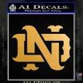 Notre Dame Fightin Irish Decal Sticker Metallic Gold Vinyl Vinyl 120x120