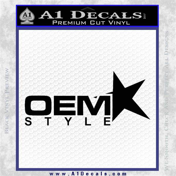 OEM Style Decal Sticker Black Logo Emblem