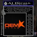 OEM Style Decal Sticker Orange Vinyl Emblem 120x120