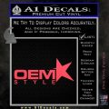 OEM Style Decal Sticker Pink Vinyl Emblem 120x120