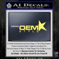 OEM Style Decal Sticker Yelllow Vinyl 120x120