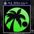 Palm Tree Moon CR Decal Sticker Lime Green Vinyl 120x120