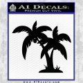Palm Trees Decal Sticker D16 Black Logo Emblem 120x120